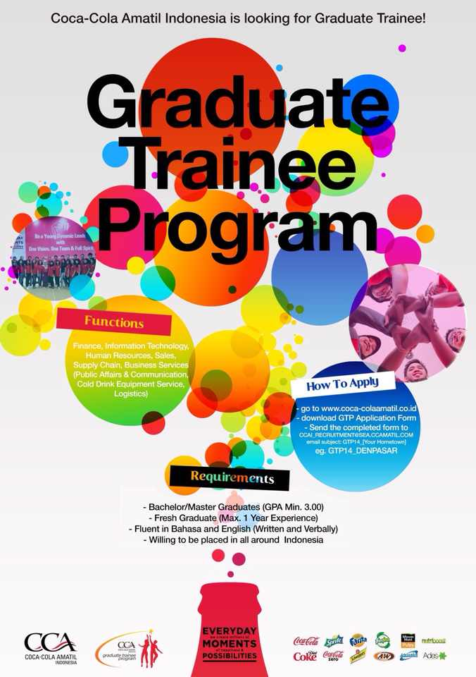 Graduate Trainee Program Coca Cola Amatil Indonesia