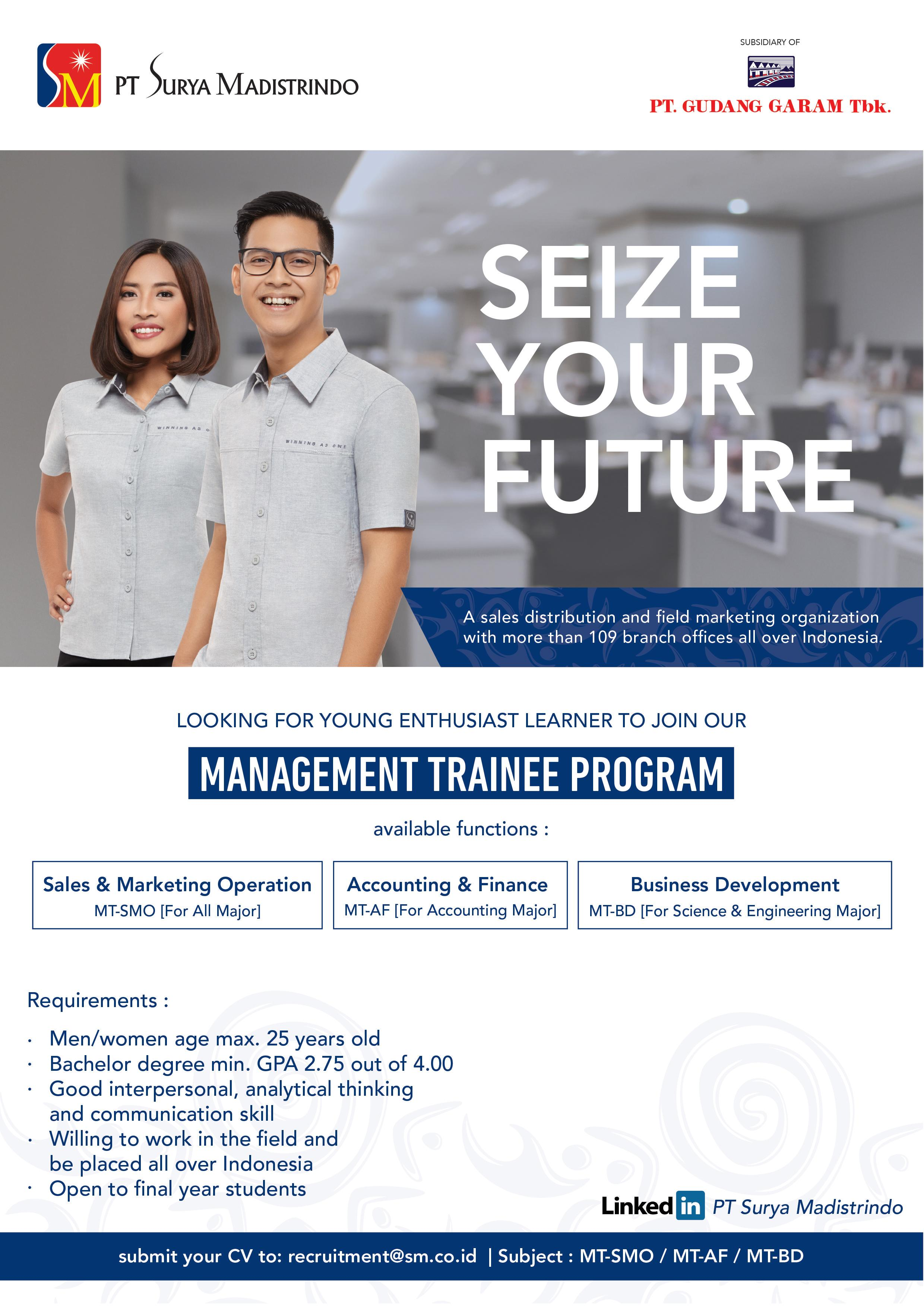 Management Trainee Program dari PT. Surya Madistrindo